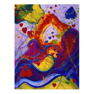 El poder del amor, subterráneo, corazones, abstrac postal