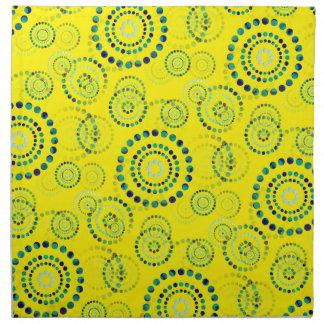 El poder del círculo de los puntos florece II + su Servilleta Imprimida