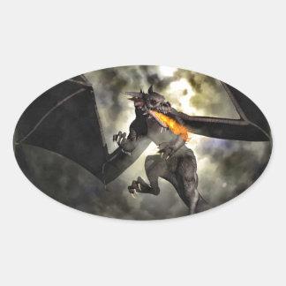 El poder del dragón pegatinas de oval