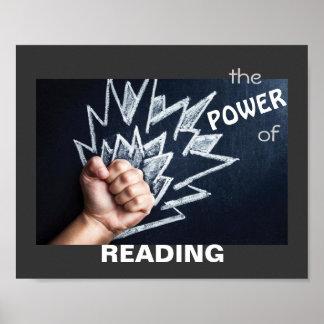 El poder del poster de la instrucción de la lectur
