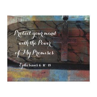 El poder del verso de la biblia de las promesas de impresiones en lienzo estiradas