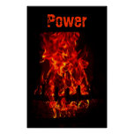 El poder flamea el fuego del infierno posters