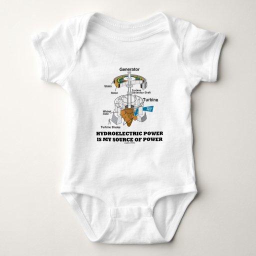 El poder hidroeléctrico es mi fuente de poder body para bebé