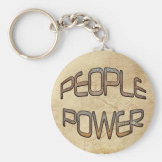 El poder popular habla hacia fuera el regalo de llavero redondo tipo pin