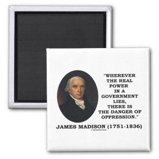 El poder real de James Madison miente peligro de l Imanes De Nevera