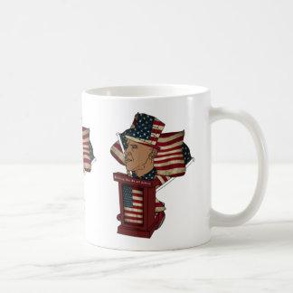 El podio de Obama Tazas De Café