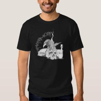 El Poe Raven nunca más el cráneo y el libro Camisas