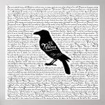 El poema completo del cuervo de Edgar Allan Poe Póster