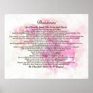 El poema de los desiderátums en la acuarela de póster