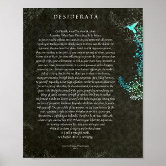 El poema de los desiderátums por arte máximo de la póster