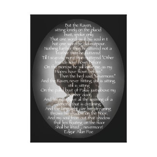 El poema del cuervo de Edgar Allen Poe, cita nunca Impresión En Lona Estirada