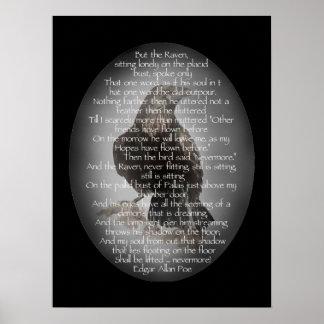 El poema del cuervo de Edgar Allen Poe, cita nunca Póster