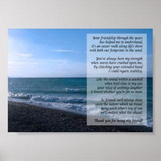 El poema más estimado del amigo por el poster del