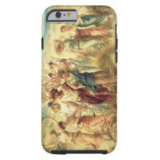 El poeta Anacreon (570-485 A.C.) con sus musas, Funda Resistente iPhone 6