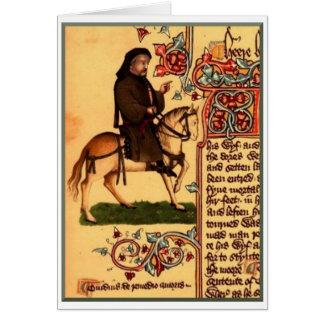 El poeta Chaucer, manuscrito de Ellesmere, circa 1 Felicitación