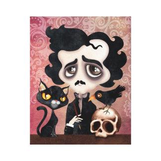 El poeta de Edgar envolvió la impresión del arte Impresiones En Lona