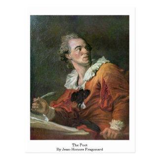 El poeta de Jean-Honore Fragonard Postal