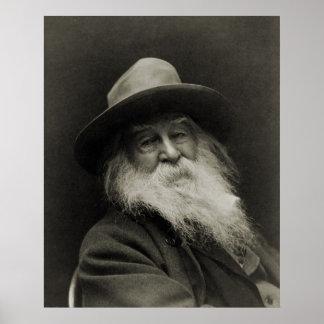 El poeta de risa Walt Whitman del filósofo Poster