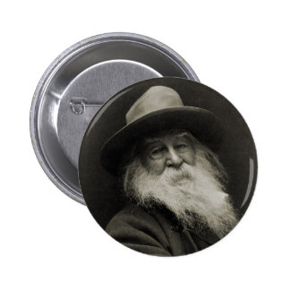 El poeta de risa Walt Whitman del filósofo Pin Redondo De 2 Pulgadas