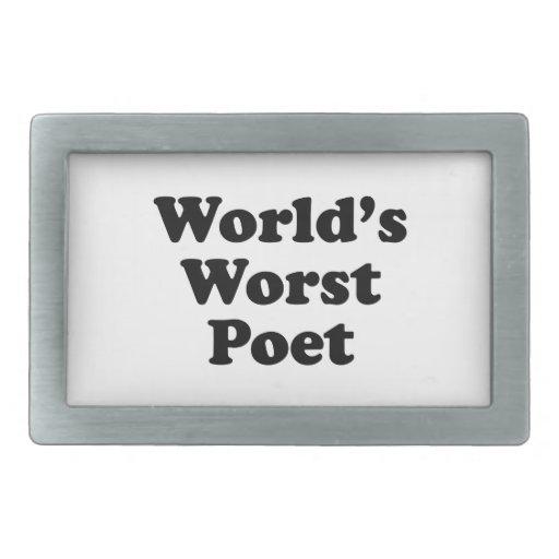 El poeta peor del mundo hebilla de cinturon rectangular