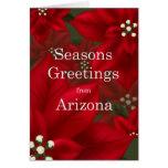 El Poinsettia de Arizona sazona navidad de los Tarjeta De Felicitación