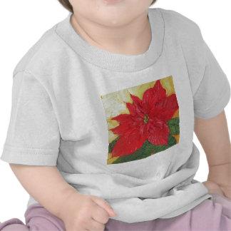 El Poinsettia rojo de París Camiseta