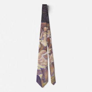 El Pointillism del vintage, la poder puede bailar Corbata Personalizada