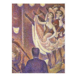 El Pointillism del vintage, la poder puede bailar Tarjeta Postal
