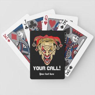 El póker 2 del comodín del estilo del casino ve baraja de cartas bicycle