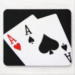 El póker Aces Mousepad Alfombrilla De Ratón