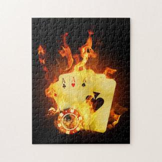 El póker ardiente carda rompecabezas