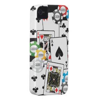 EL PÓKER CARDA MICROPROCESADORES Case-Mate iPhone 4 FUNDA