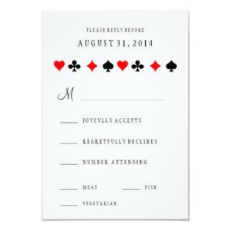 """El póker del casino de Las Vegas carda casar la Invitación 3.5"""" X 5"""""""