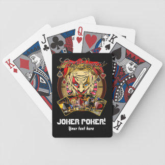 El póker del comodín del estilo del casino ve por  barajas de cartas