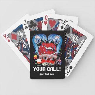 El póker del estilo del casino ve por favor la not barajas de cartas