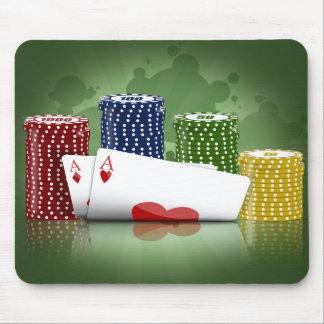 El póker los sostiene Mousepad
