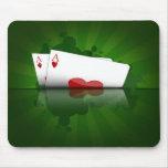El póker los sostiene Mousepad Alfombrillas De Ratones