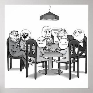 El póker Meme persigue el poster