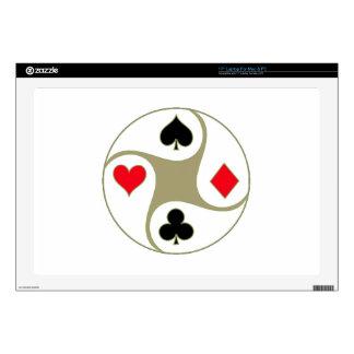 """El póker se adapta a la piel para 17"""" ordenador calcomanías para 43,2cm portátiles"""