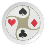 El póker se adapta a las placas de la parte platos para fiestas