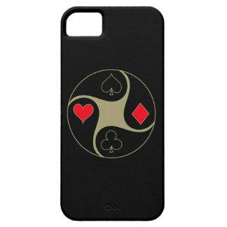 El póker se adapta al caso del iPhone 5/5S de iPhone 5 Case-Mate Protector