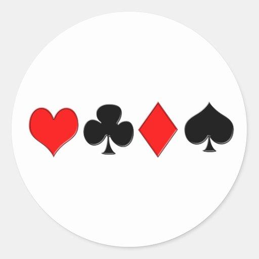 El póker se adapta al pegatina