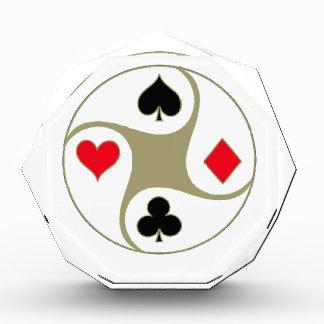 El póker se adapta al premio de acrílico grande