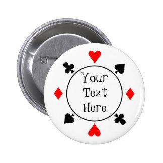 El póker siembra el botón pin redondo de 2 pulgadas