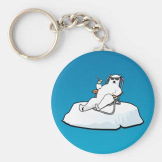 el polar_bear_lounging llavero personalizado