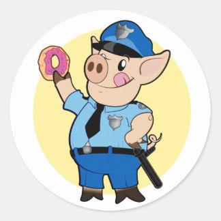 El poli taja al pegatina