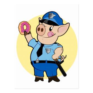 El poli taja la postal