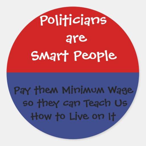 El político es elegante - pagúeles el salario míni etiqueta