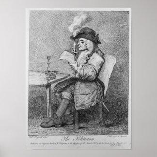 El político, grabado al agua fuerte por Juan Keyse Póster