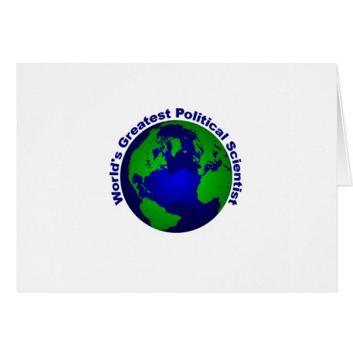 El politólogo más grande del mundo tarjeta de felicitación